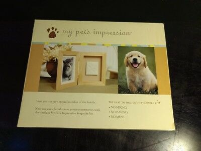 My Pet's Impression Frame & Paw Print Kit - EASY - Dog  Cat - Memorial Angel Pet