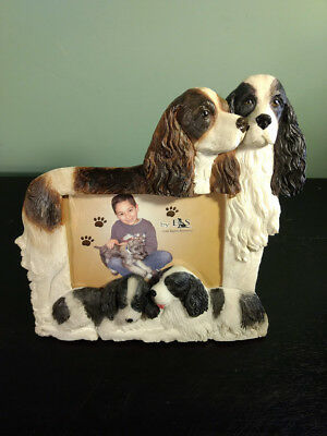 """E&S Imports """"DOG"""" PICTURE FRAME Springer Spaniel Holds 4X6 Picture"""
