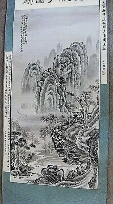 Chinese/oriental River / Landscape  Scene  Hand Painted Wall Hanging Scroll