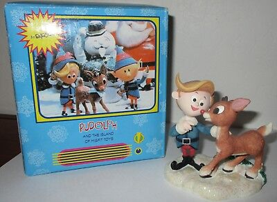 Enesco Rudolph The Island Of Misfit Toys  Rudolph  & Herbie Figurine 557668