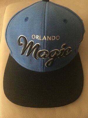 Mens Mitchell & Ness Orlando Magic SnapBack Adjustable Baseball Cap Blue Black