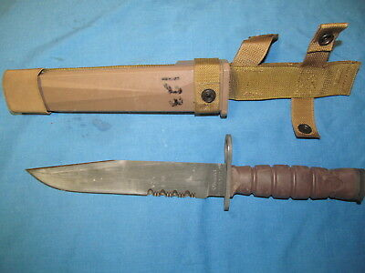 Usgi Military Ontario Knife Co - Okc 3S Combat Usmc Fighting Knife And Scabbard
