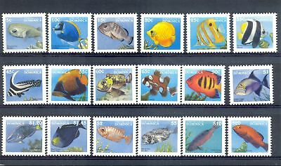 English Colony -Dominica- =Mi# 2417/34 - Fish---** Mnh Vf
