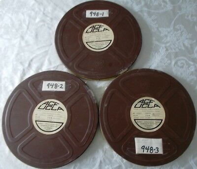 3 Reels - 16MM Films ACF UCLA Structural Configurations Space Technology Series