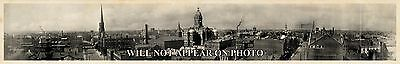 "1907 Evansville Indiana Vintage Panoramic Photograph 6 3/4"" x 42"" Long"