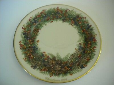 Lenox Limited Edition Colonial Christmas Wreath New Hampshire 1986 Plate