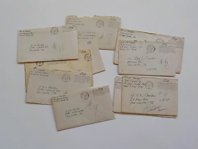 "10 WWII Letters Ft. Meade 76th Infantry Division ""Onaway"" Soldier Army WW2"