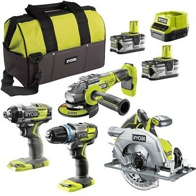 Ryobi BRSLSS ONE+ 18v Cordless Brushless Power Tool Kit 2 batteries