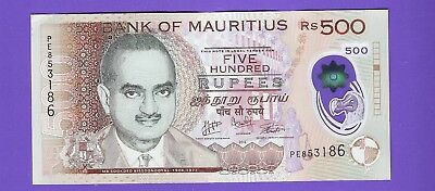 MAURITIUS - 500 Rupees 2016 polymer VF