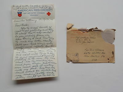 WWII Letter 1945 German Rifle Bayanets Nazi Insignia 76th Infantry Division WW2