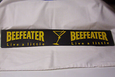 Vtg Beefeater Rubber Bar Mat Martini Glass With Olive!