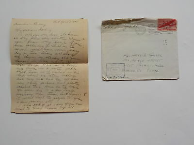 "WWII Letter 1945 German Soldiers Dunkirk 76th Infantry Division ""Onaway"" WW2"