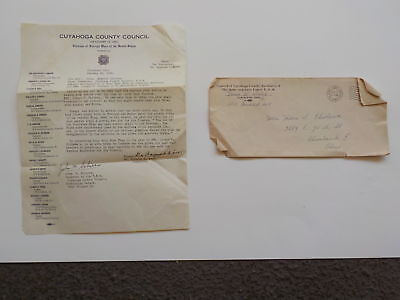 WWII Letter 1945 Killed In Action Soldier Cuyahoga County Council KIA WW II WW2