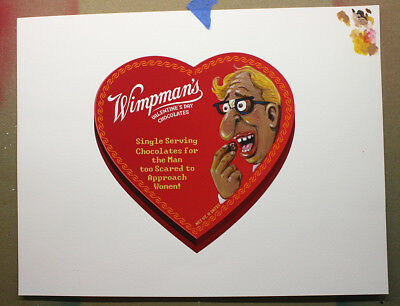 Topps Wacky Packages Wimpman's Original Painting Art Jimenez Valentine's Set