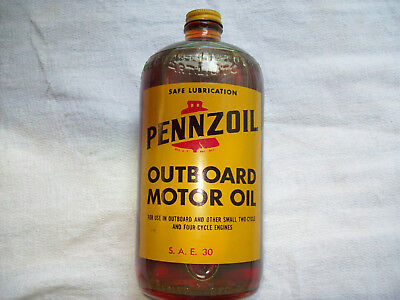 Scarce Pennzoil Outboard Motor Oil Unused Nos