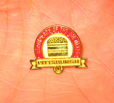 NOS McDonald's Enamel Hat Tack Lapel Pin Birthplace of the Big Mac Pittsburgh