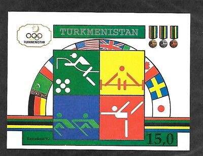 TURKMENISTAN Sc 23 NH ISSUE of 1992 Imperf Sports Olympics