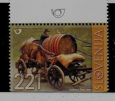 SLOVENIA Sc 539 NH issue of 2003 - WOODEN CART