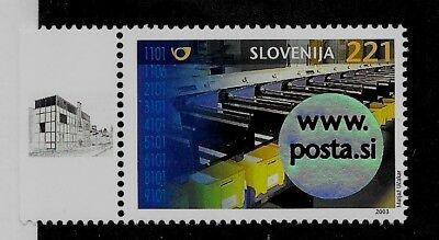 SLOVENIA Sc 537 NH issue of 2003 - COMPUTER MAIL
