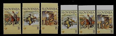 SLOVENIA Sc 489-94 NH issue of 2002 - ART