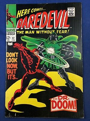 Daredevil #37 (1968 Marvel Comics) Dr Doom appearance Silver Age NO RESERVE