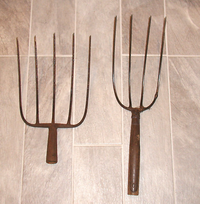 Lot of Two Vintage Hay/Pitch Fork - Antique Farm Tool/Country Primitive
