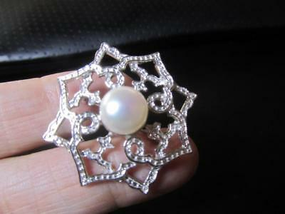925 Sterling Silver Iridesse Tiffany & Co. Pearl Brooch  Must See!