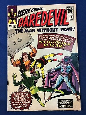 Daredevil #6 (1965 Marvel Comics) 1st appearance of Mr Fear Silver Age NO RESERV
