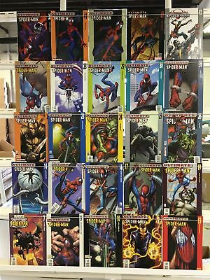 Spider-Man Comics Huge Lot 25 Comic Book Collection Set Run Books Box 1
