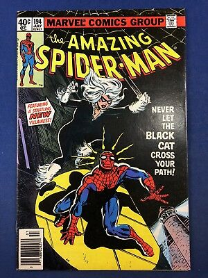 Amazing Spider-Man #194 (1979 Marvel) 1st appearance of Black Cat Bronze Age