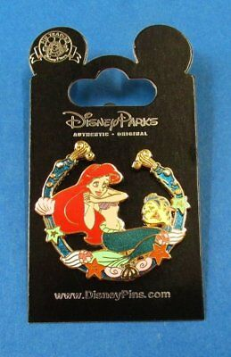 Disney Pin Little Mermaid - Princess Ariel Coral & Shell Border with Flounder