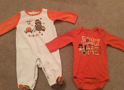 Thanksgiving Outfit  lot of 2 size 3-6 months