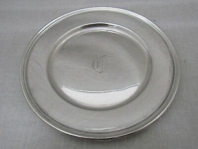 """Wallace Sterling Silver 6"""" Plate Monogrammed T 2899"""
