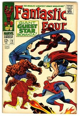 Fantastic Four #73 (1968) F/VF New Marvel Silver Bronze Collection