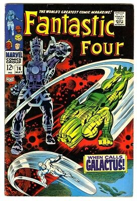 Fantastic Four #74 (1968) F/VF New Marvel Silver Bronze Collection