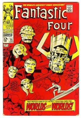 Fantastic Four #75 (1968) Fine- New Marvel Silver Bronze Collection