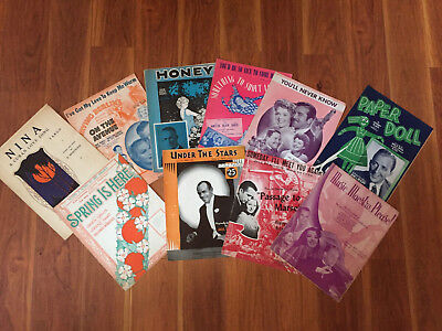 LOT OF 35 VINTAGE SHEET MUSIC- 20's, 30's,40's AND 50's