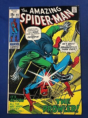 Amazing Spider-Man #93 (1971 Marvel Comics) The Prowler appearance NO RESERVE