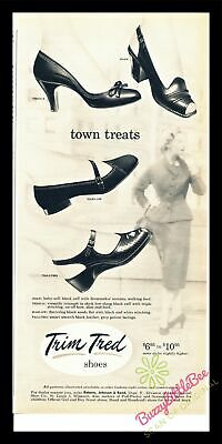 Print Ad~Vintage~1954~Trim Tred Shoes~Town Treats~Harlow~Tallyho~Joan~I500