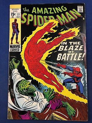 Amazing Spider-Man #77 (1969 Marvel) Lizard Human Torch appearance NO RESERVE