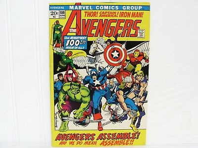 Vintage Marvel 1972 No. 100 The AVENGERS 100th