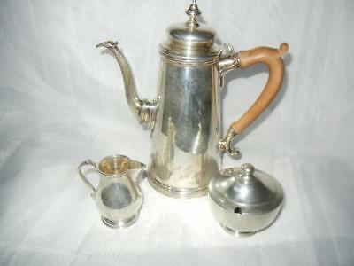 Early Ensko New York Sterling Silver Tea Coffee Set Mini Creamer Sugar