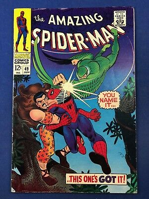 Amazing Spider-Man #49 (1967 Marvel Comics) Vulture Kraven appearance Silver Age