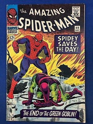 Amazing Spider-Man #40 (1966 Marvel Comics) Green Goblin appearance Silver Age