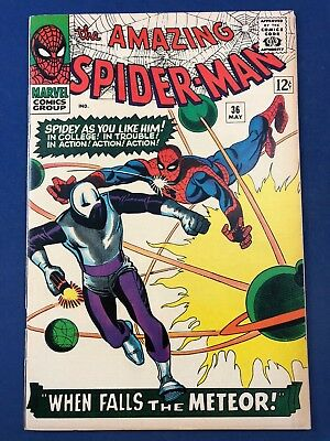 Amazing Spider-Man #36 (1966 Marvel Comics) The Looter appearnace Silver Age
