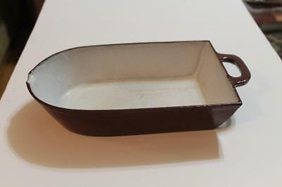 Antique Cast Iron Enameled Portland Stove Foundry 4 Leaf Clover 2 1/2 Pan/scoop