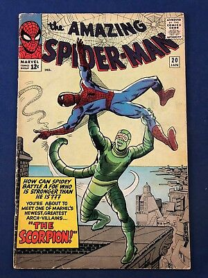 Amazing Spider-Man #20 (1965 Marvel Comics) 1st appearance of the Scorpion