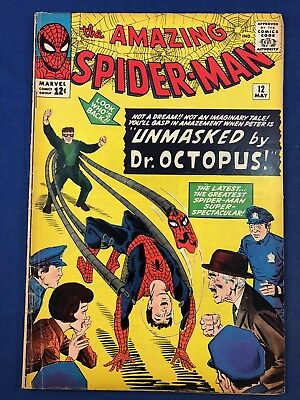Amazing Spider-Man #12 (1964 Marvel) Dr Octopus appearance Silver Age NO RESERVE