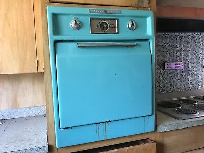 General Electric combination vintage wall refrigerator and freezer retro 1950