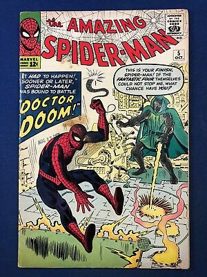 Amazing Spider-Man #5 (1963 Marvel) Dr Doom appearance Silver Age NO RESERVE